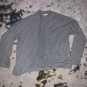 Belle du Jour Gray Cardigan Sweater in Medium